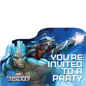 Guardians of the Galaxy Invitations 8ct