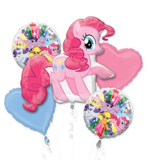 Giant Pinkie Pie Balloon Bouquet 5pc - My Little Pony