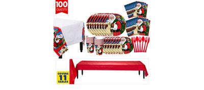 Classic Santa Tableware Kit for 100 Guests