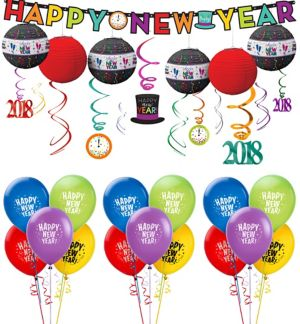 Colorful New Year's Decorating Kit