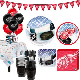 Detroit Red Wings Super Party Kit for 16 Guests
