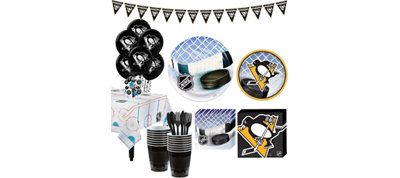 Pittsburgh Penguins Super Party Kit for 16 Guests