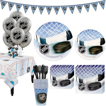 NHL Hockey Super Party Kit for 8 Guests