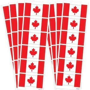 Canadian Flag Stickers 44ct