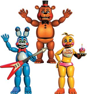 Jointed Five Nights at Freddy's Cutouts 3ct