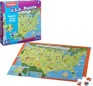 USA Map Puzzle 300pc