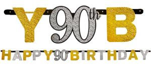 Prismatic 90th Birthday Banner - Sparkling Celebration