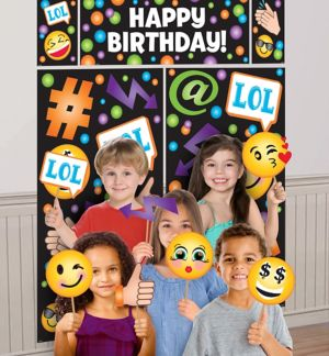 Smiley Photo Booth Kit 17pc