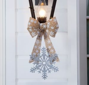 Silver Christmas Porch Light Decorating Kit