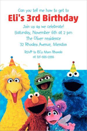 Custom Sesame Street Invitation