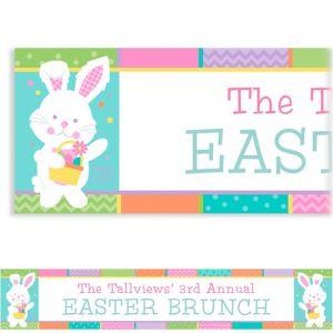 Custom Hippity Hop Easter Bunny Banner
