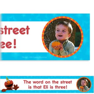 Custom Sesame Street Photo Banner