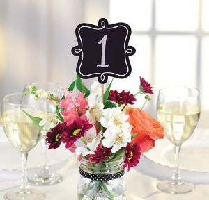 Chalkboard Table Number Centerpiece Sticks 1-10