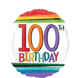 Rainbow 100th Birthday Balloon