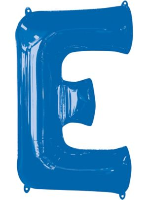 Giant Blue Letter E Balloon