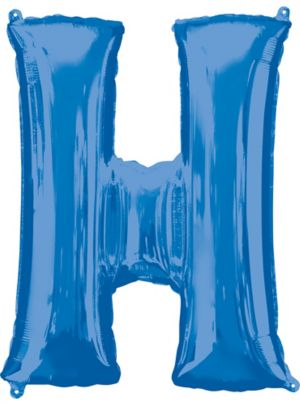 Giant Blue Letter H Balloon
