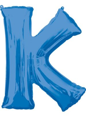 Giant Blue Letter K Balloon