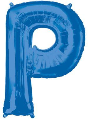 Giant Blue Letter P Balloon