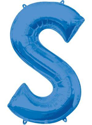 Giant Blue Letter S Balloon