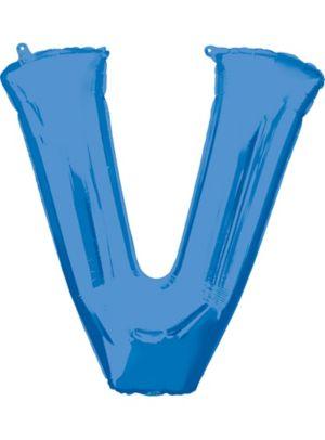 Giant Blue Letter V Balloon