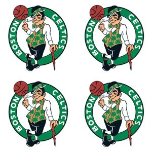 Boston Celtics Face Tattoos 4ct