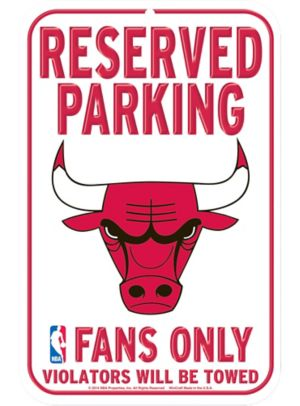 Reserved Parking Chicago Bulls Sign