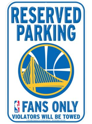 Reserved Parking Golden State Warriors Sign