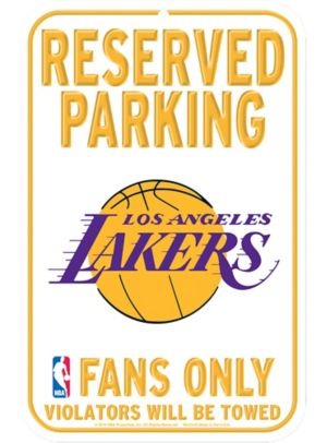 Reserved Parking Los Angeles Lakers Sign