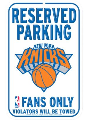 Reserved Parking New York Knicks Sign