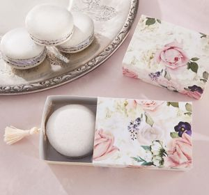 English Garden Floral Favor Boxes