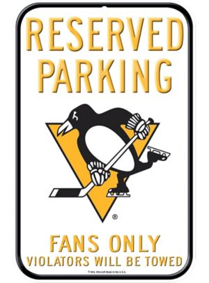 Reserved Parking Pittsburgh Penguins Sign