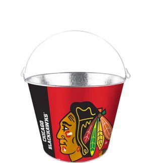 Chicago Blackhawks Galvanized Bucket