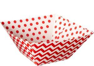 Red Polka Dot & Chevron Serving Bowls 3ct