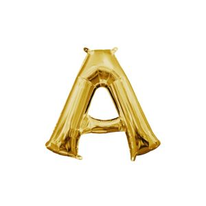 Air-Filled Gold Letter A Balloon