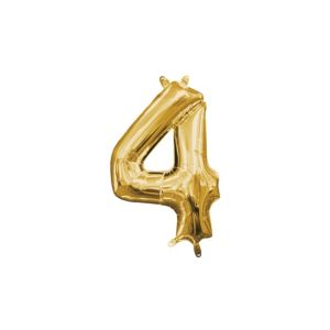Air-Filled Gold Number 4 Balloon