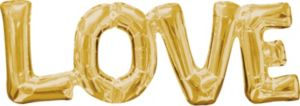 Air-Filled Gold Love Letter Balloon Banner