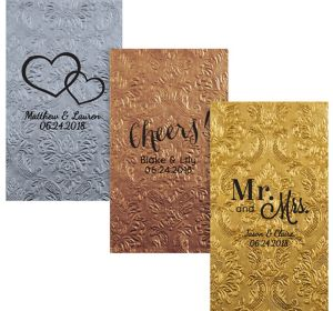 Personalized Wedding Embossed Damask Guest Towels
