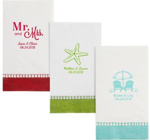 Personalized Wedding Bordered Guest Towels