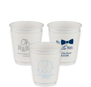 Personalized Baby Shower Insulated Paper Cups 12oz