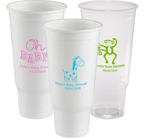 Personalized Baby Shower Plastic Party Cups 44oz