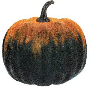 Glitter Orange Pumpkin Decoration