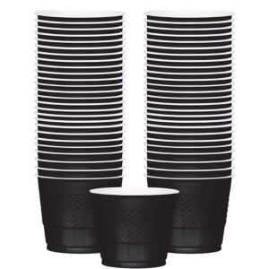 Big Party Pack Black Plastic Cups 50ct