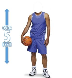 Basketball Player Life-Size Photo Cardboard Cutout