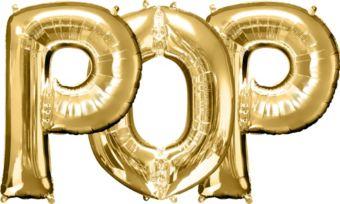Giant Gold Pop Letter Balloon Kit 3pc
