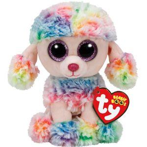 Rainbow Beanie Boo Poodle Dog Plush