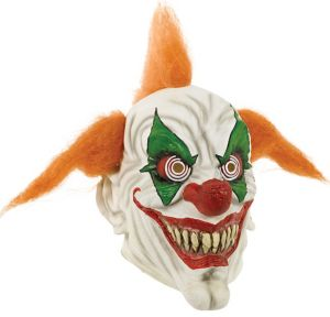 Adult Orange-Haired Clown Mask