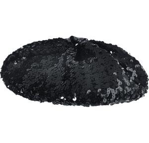 Adult Black Sequin Beret