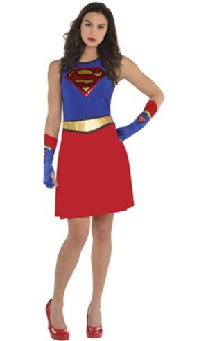 Adult Supergirl Fit & Flare Dress - Superman