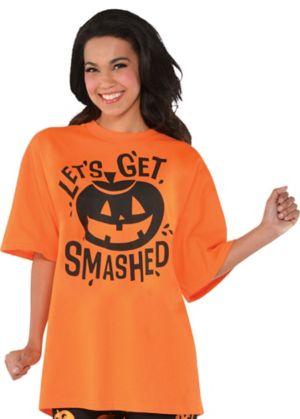 Adult Let's Get Smashed Jack-o'-Lantern T-Shirt
