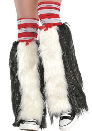 Adult Cat in the Hat Leg Warmers - Dr. Seuss